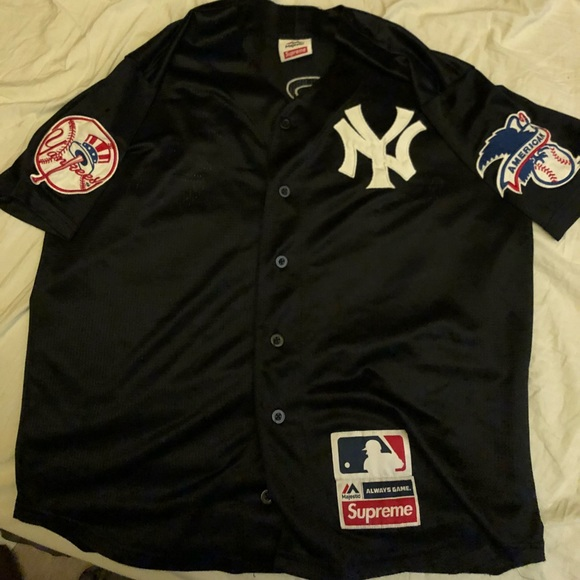 low priced 478fd 9541e Supreme X Yankees Baseball Jersey SS15 collection